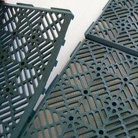 Caillebotis plastiques - vendus par 5 Vert 1,5 cm