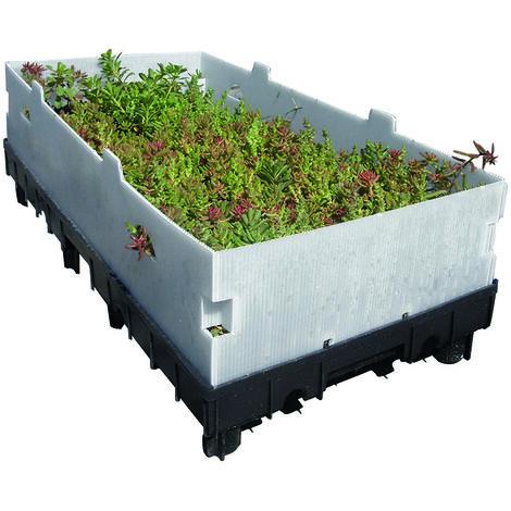 Caisette pour Végétalisation toiture - TOUNDRA' BOX 60cm x 30cm