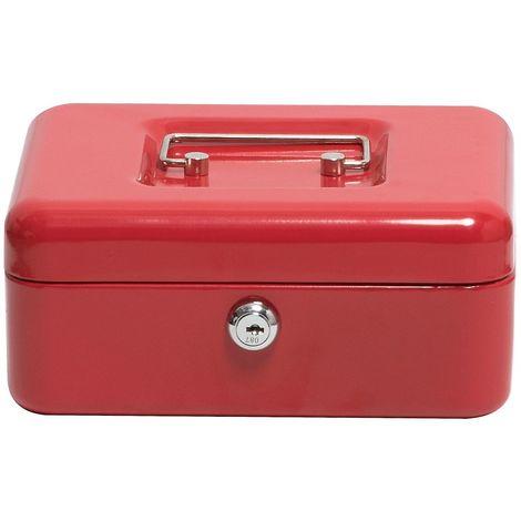 Caisse à monnaie | Rouge | HxLxP 90 x 200 x 160 mm | Newpo