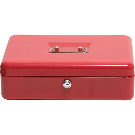 Caisse à monnaie | Rouge | HxLxP 90 x 300 x 240 mm | Newpo
