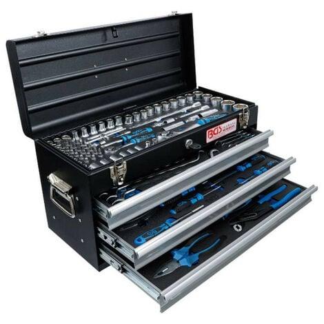 Caisse à outils BGS TECHNIC - 143 outils - 3 tiroirs métalliques - 3318