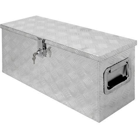 Caisse à outils boite transport remorque valise aluminium chequer 73x24x32 cm
