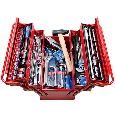Caisse à outils complète - 103 pièces - 220 x 260 x 470 mm - -