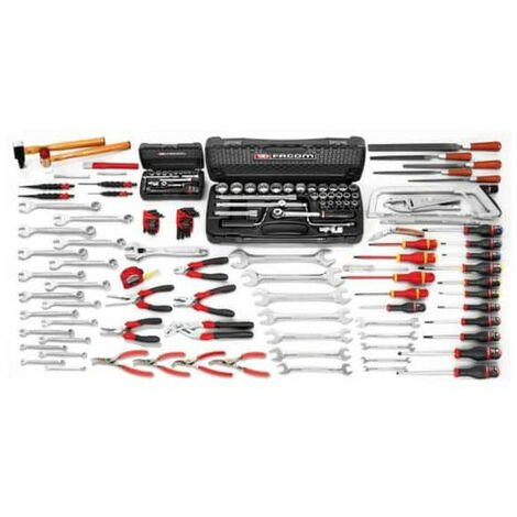 caisse outils compl te 130 outils facom cm130a. Black Bedroom Furniture Sets. Home Design Ideas