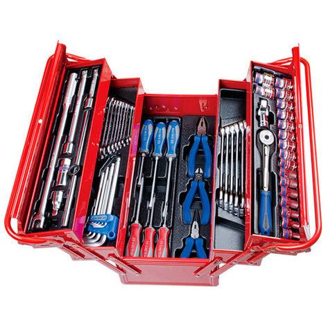 Caisse à outils complète - 63 pièces - 220 x 260 x 470 mm