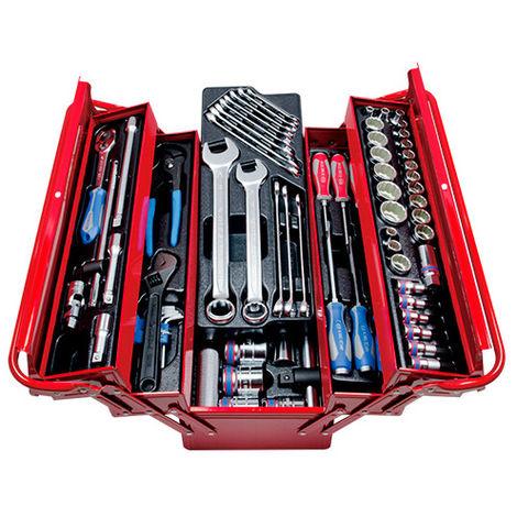 Caisse à outils complète - 77 pièces - 220 x 260 x 530 mm