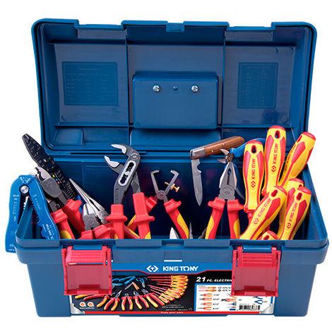Caisse à outils complète Electicité - 21 pièces