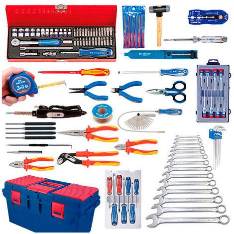 Caisse à outils complète Electricité-Electromécanique - 147 pièces - -
