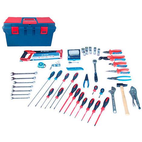 Caisse à outils complète Electrité-Electromécanique - 70 pièces