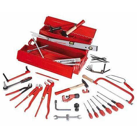 Caisse a outils en tole d'acier - 50 pces