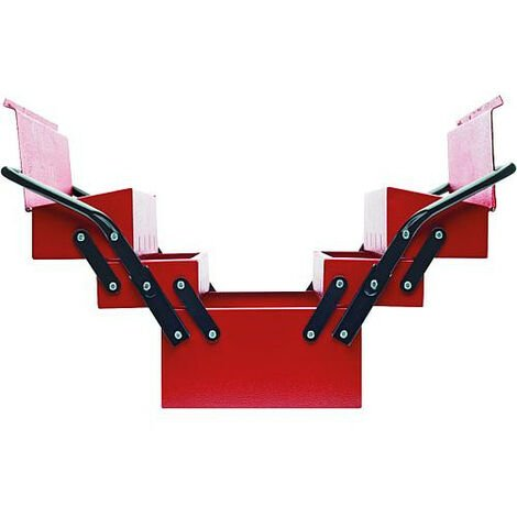 Caisse a outils GEDORE red 5 casiers, vide
