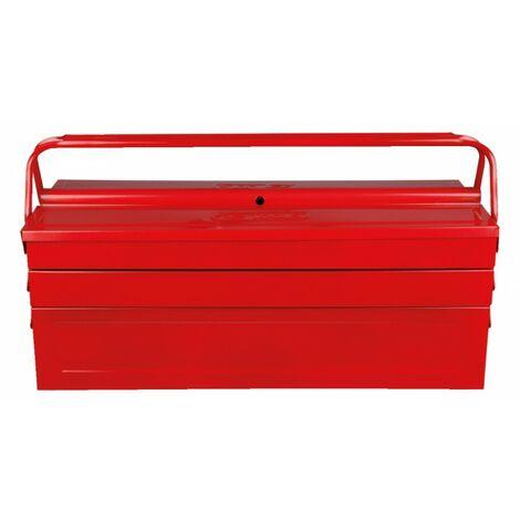 Caisse à outils métallique, 5 compartiments - 430x200x200