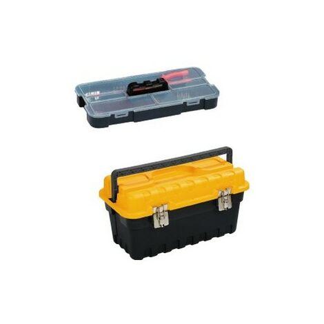 Caisse à outils plastique avec organiser amovible