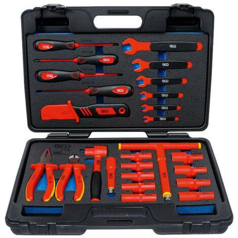 Caisse à outils pour clés à douilles VDE BGS TECHNIC - 26 pcs - 7130