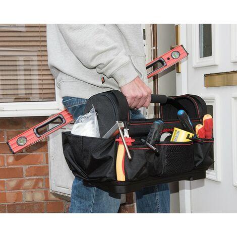 Caisse a outils Sac de rangement Poignee transport acier et Bandouliere