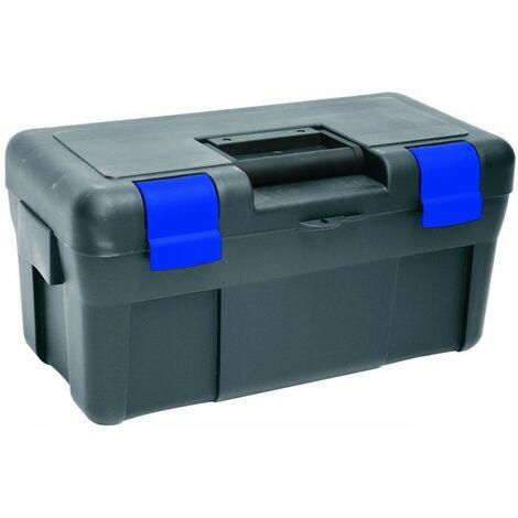 """Caisse à outils Toolbox 20"""" - Anthracite / bleu - 2 étages"""