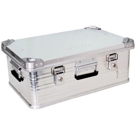 Caisse aluminium   Etanche et anti-poussière   HxLxP 40 x 79 x 58,5 cm   157 litres   newpo