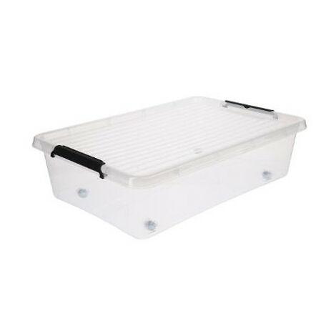 Caisse de rangement avec roulette - L 59 x l 38,5 x H 16,5 cm