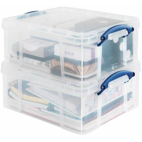 Caisse de rangement polyvalente en plastique L12L