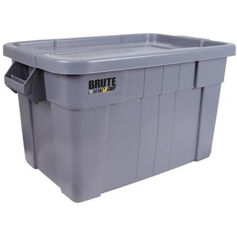 Caisse de transport Brute, polyéthylène, coloris gris, volume 53 litres