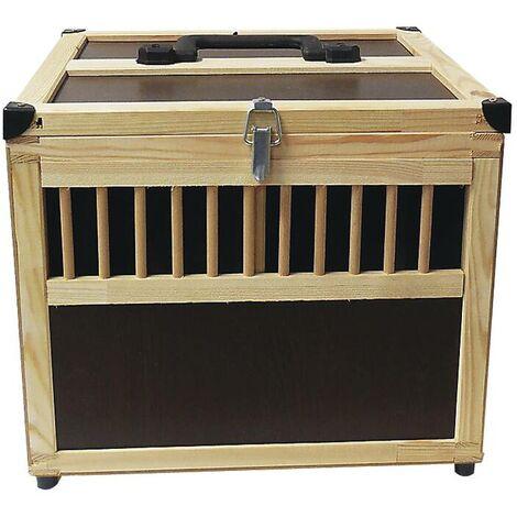 """main image of """"Caisse de transport d'animaux en bois avec cloison de séparation"""""""