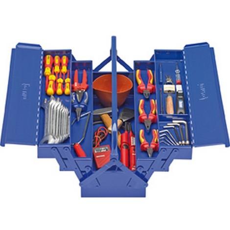 Caisse d'outils d'électricion, Quantité : 41 pièces