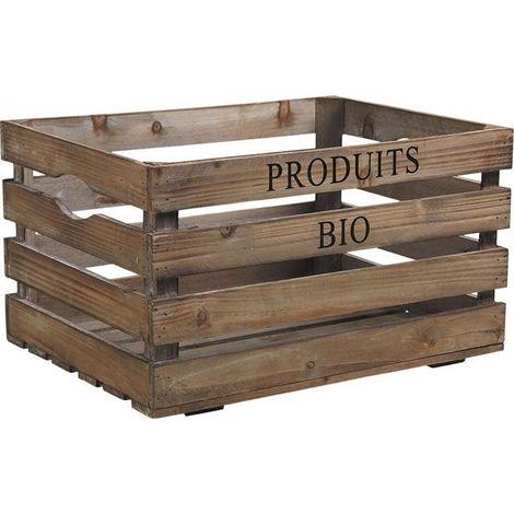 Caisse en bois Produits bio