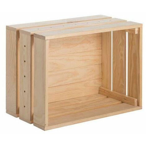 Caisse modulaire en bois - pin massif HOME BOX