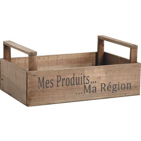Caisse récolte Mes produits ma région