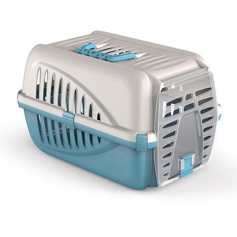 Caisse transport pour chat et petit chien - bleu