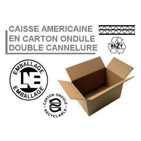 Caisses américaines double cannelure 400x400x200 mm