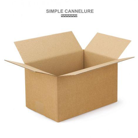 Caisses américaines simple cannelure 350x250x100