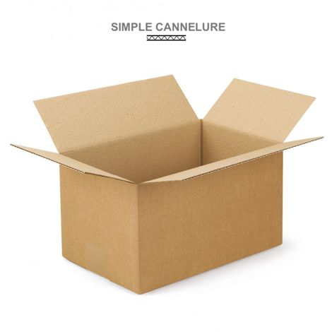 Caisses américaines simple cannelure 392x292x254 mm Lot de 25