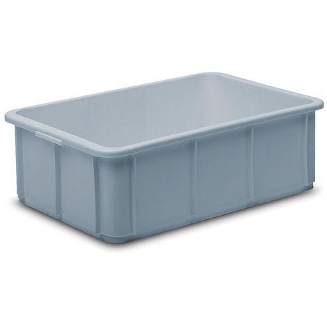 Caisses-palettes en polypropylène - capacité 20 l, dim. ext. L x l x h 600 x 400 x 125 mm - gris