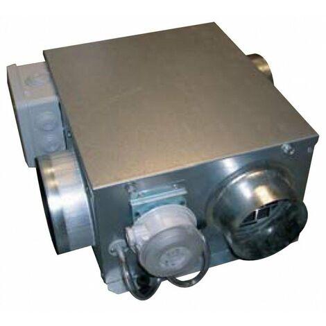 Caisson aération Microgem VS - Simple flux autoréglable - 10/20W - 70/140m³/h - 2 piquages - Spécial vide sanitaire