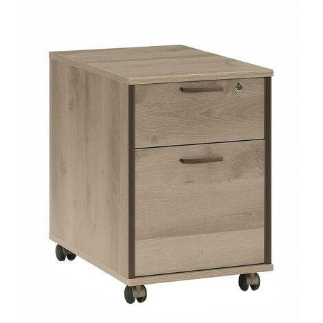 Caisson de bureau avec roulettes et tiroirs à verrou | Calicosy