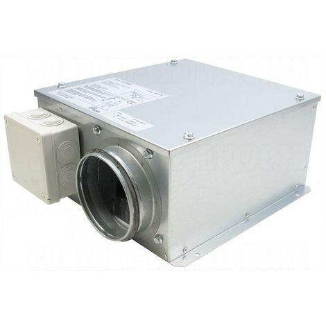 Caisson de ventilation extra-plat - Diamètre 125 mm - Unelvent
