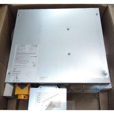 Caisson d'extraction 500m3/h standard Cat4 550x504x300mm 50W coudé 90° Ø 200mm VMC CACB-N ECOWATT 005-1 UNELVENT 230400