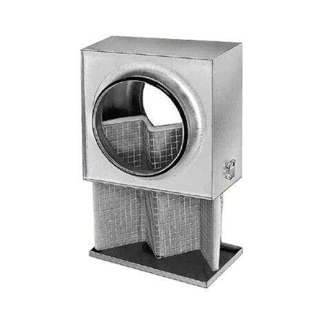 Caisson filtre G4 conduits circulaires 160 G4 - LFBR 160 HELIOS VENTILATEURS - 8578 Caisson pour conduits circulaires Helios Dimensions : diam 160 L265xH235xP155 mm