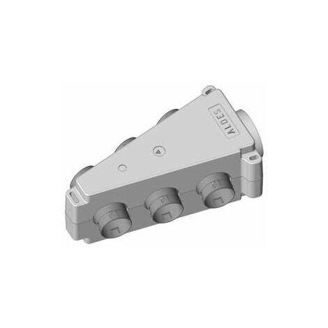Caisson répartiteur triangulaire isolé 1x125 + 6x80 - ALDES - 11023037 Caisson répartiteur isolé en PPE1 piquage 125 mm6 piquages 80 mm3 bouchons 80 mm