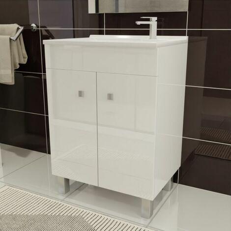 Caisson simple vasque ECOLINE 60 - Blanc brillant