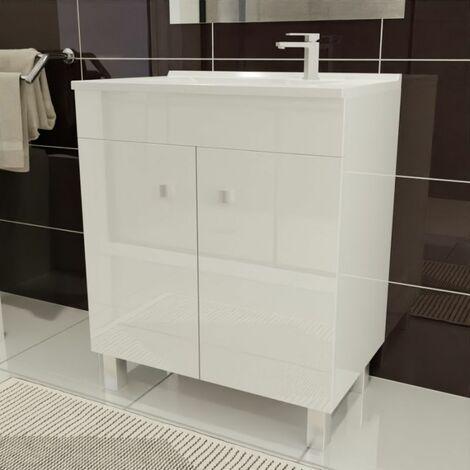 Caisson simple vasque ÉCOLINE 70 - Blanc brillant