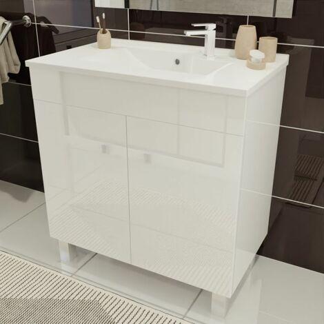Caisson simple vasque ÉCOLINE 80 - Blanc brillant