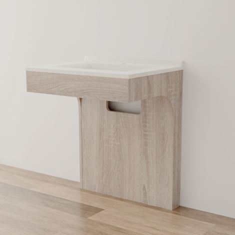 Caisson simple vasque PMR ALTEA 70 - Cambrian oak