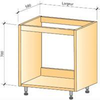 Caisson sous évier IMPEX - H.780 Lg.900 - blanc - CSE90780B