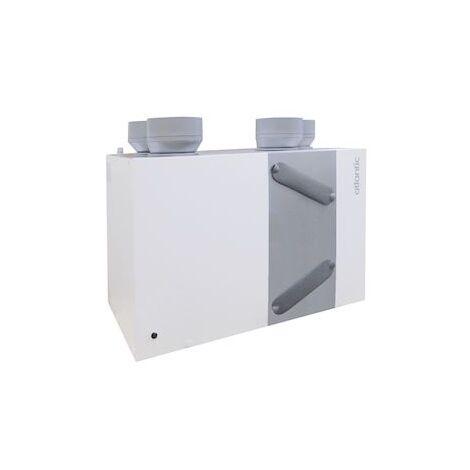 Caisson VMC - Atlantic - Duocosy HR - Double Flux - 4 piquages - Gris