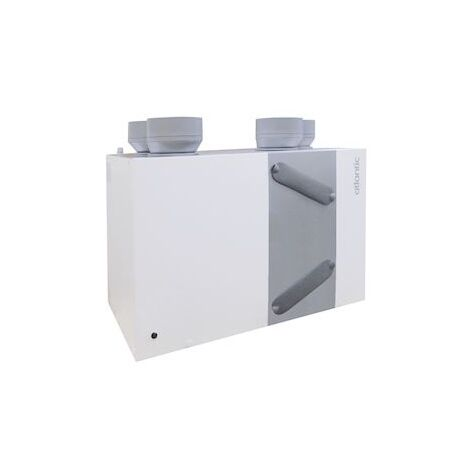 Caisson VMC - Atlantic - Duocosy HR - Double Flux - 4 piquages - Gris - Gris