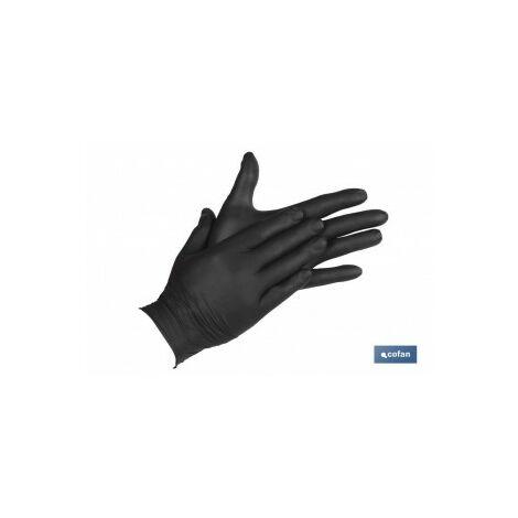 """main image of """"Caja 100 unds guantes de nitrilo negro t - l"""""""