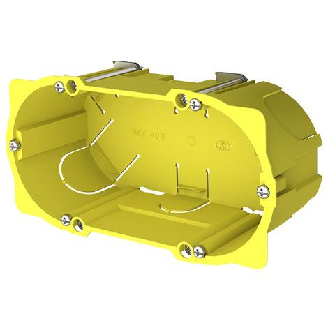 caja 2 mecanismos pladur enlazable 65x145x50