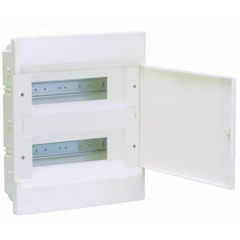 Caja automáticos empotrar Hager 24 módulos VR212NE C/Puerta